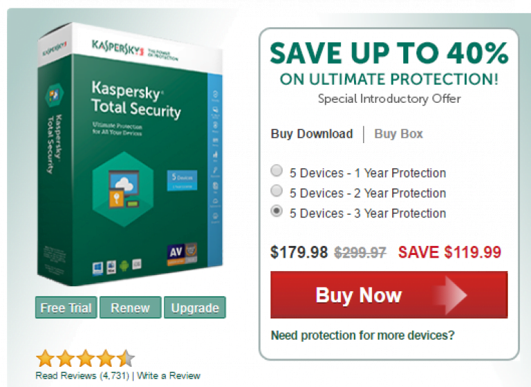 $119 Off kaspersky lab Coupon code Total Security 2019