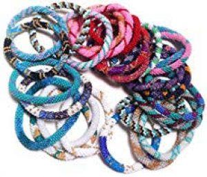 65% off where to buy Sashka bracelets? Nepali beaded bracelets